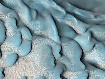 Blue Dunes of Mars
