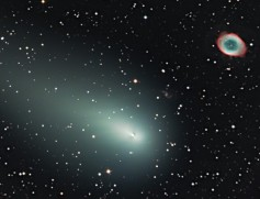 Comet, Galaxy and Ring Nebula