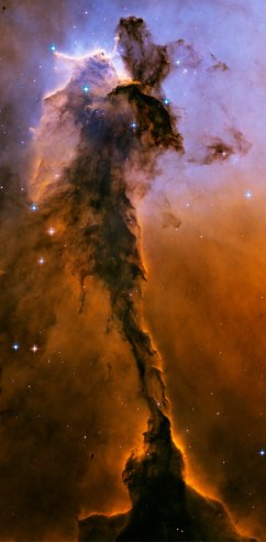 The Stellar Spire within the Eagle Nebula