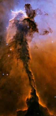 The Stellar Spire within the Eagle Nebula