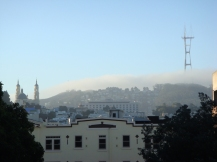 Fog On An SF Hill - m