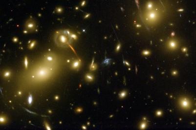 Galaxy Cluster Abell 2218 - Bends light