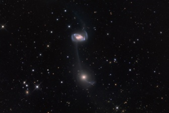 Galaxy Collision - Galaxies on a String