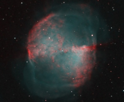 Gaseous emission nebula M27