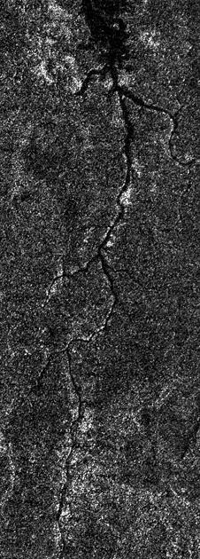 River of methane on Saturn's moon Titan