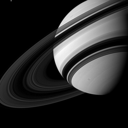 Saturn and Tiny Tethys