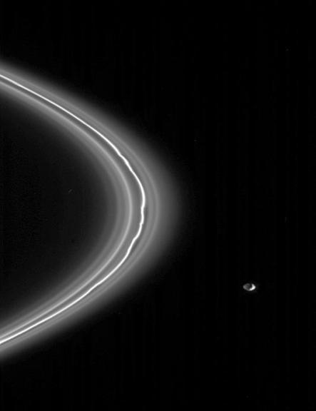 Saturns Moon Pandora and F Ring