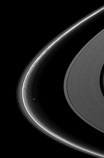 Saturn's moon Prometheus creating Channels in the F Ring