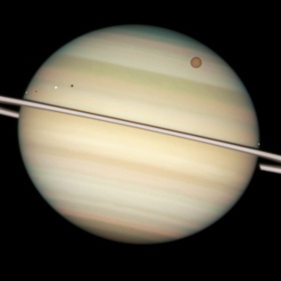 Saturn's moons in Transit