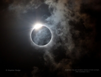 Solar Eclipse - Diamond Ring and Shadow Bands