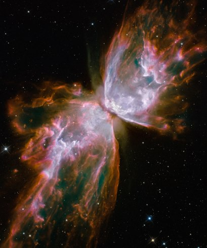 The Butterfly Nebula - more info at http://internal.hubblesite.org/newscenter/archive/releases/2009/25/image/f/