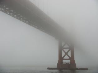 Under GGB in Heavy Fog - rc - m