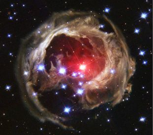 Variable star V838 Monocerotis continues its outburst - Feb 2004