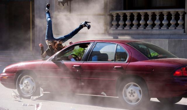 Tammie Baird - stunt car hit