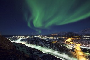 Aurora Borealis over Nuuk, Greenland