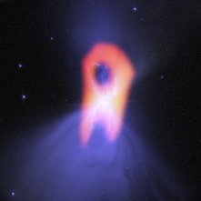 The Boomerang Nebula with ultraviolet radiation - the coldest place in the universe