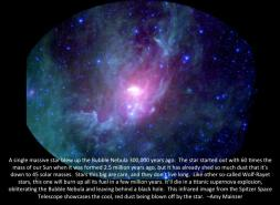 Bubble Nebula in Infrared - and info about it