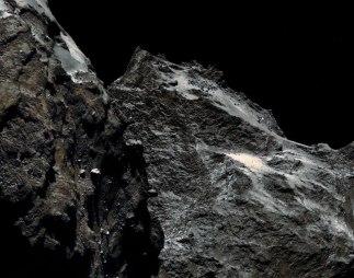 Comet Churyumov-Gerasimenko - ultra closeup - taken from the Rosetta spacecraft flying just 62 km away. More at http://apod.nasa.gov/apod/ap140915.html