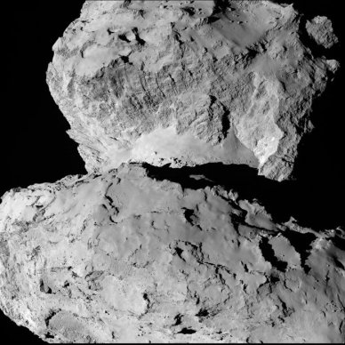 Comet on 2014-Aug-7 taken from the Rosetta Spacecraft - more at http://www.esa.int/spaceinimages/Images/2014/08/Comet_on_7_August_a
