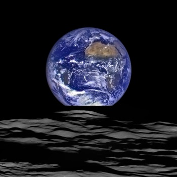 Earth seen from the Moon October 12, 2015 by the Lunar Reconnaissance Orbiter - http://lroc.sese.asu.edu/posts/895?