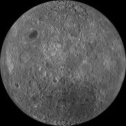 Far side of the moon. We on Earth never see this view because the moon is locked in synchronous rotation. Until astronauts flew around the other side of the moon, no human being ever saw this view. This image was taken by NASA's Lunar Reconnaissance Orbiter (LRO) - a satellite circling the moon on March 11, 2011. http://www.nasa.gov/mission_pages/LRO/news/lro-farside.html