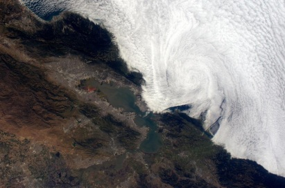 Fog Outside of San Francisco - taken from the International Space Stationby Sam Cristoforetti