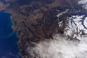 French Alps - taken from the International Space Stationby Sam Cristoforetti
