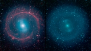 Galaxy NG 1291 - The photo on the left shows infrared light highlights and the one on the right is all visible light. You can see where lots of stars are forming. How much life is forming too? - More info here http://www.spitzer.caltech.edu/news/1710-feature14-20-Galactic-Wheel-of-Life-Shines-in-Infrared
