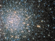 This sparkling jumble is Messier 5 — a globular cluster consisting of hundreds of thousands of stars bound together by their collective gravity. But Messier 5 is no normal globular cluster. At 13 billion years old it is incredibly old, dating back to close to the beginning of the Universe, which is some 13.8 billion years of age. It is also one of the biggest clusters known, and at only 24,500 light-years away, it is no wonder that Messier 5 is a popular site for astronomers to train their telescopes on. Messier 5 also presents a puzzle. Stars in globular clusters grow old and wise together. So Messier 5 should, by now, consist of old, low-mass red giants and other ancient stars. But it is actually teeming with young blue stars known as blue stragglers. These incongruous stars spring to life when stars collide, or rip material from one another.
