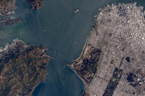 Golden Gate Bridge - taken from the International Space Station By Scott Kelly