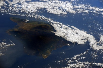 Hawaii - taken from the International Space Station by Sam Cristoforetti