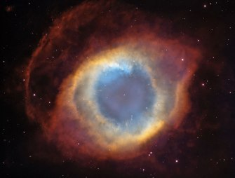 The Helix Nebula. This is the closest nebula to Earth. Its 700 light years away. More info at http://apod.nasa.gov/apod/ap141012.html