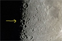 The Lunar X is at the line between day and night and is only apparent during a four hour period just before the Moon's first quarter phase. More at http://apod.nasa.gov/apod/ap090311.html