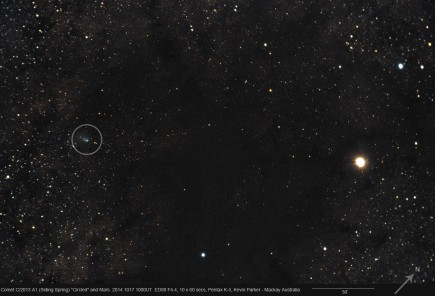 Mars, Comet Siding Spring and lots of space dust 10-17-2014