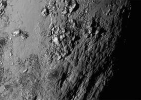 Pluto icy mountains