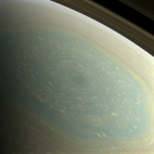 Saturn North Pole - natural color