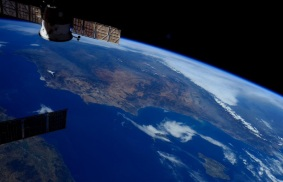 Spain looking North - taken from the International Space Stationby Sam Cristoforetti