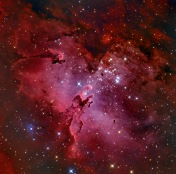Star Cluster M16 and the Eagle Nebula