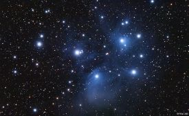 Star Cluster - Pleiades - The Seven Sisters - Subaru (in Japanese) - Messier 45