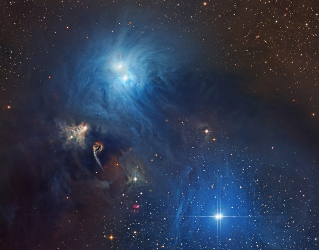 Stars forming in space dust in Corona Australis - only 500 light years from us - from http://apod.nasa.gov/apod/ap150108.html