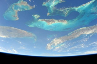 The Bahamas, Florida and Cuba - taken from the International Space Station By Scott Kelly