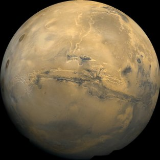 Mars and its Grand Canyon, Valles Marineris