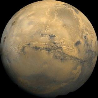 Mars and its Grand Canyon, Valles Marineris