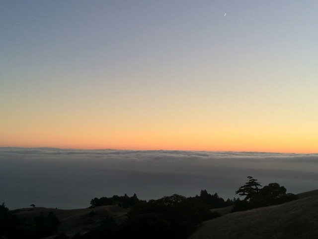 Sunset Near the Top of Mt. Tamalpais 9-27-2014